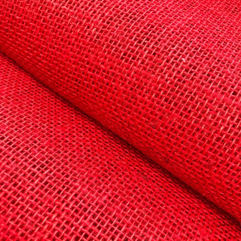 Juta Colorida Lisa - 1,00m largura - 100% Juta - Vermelho