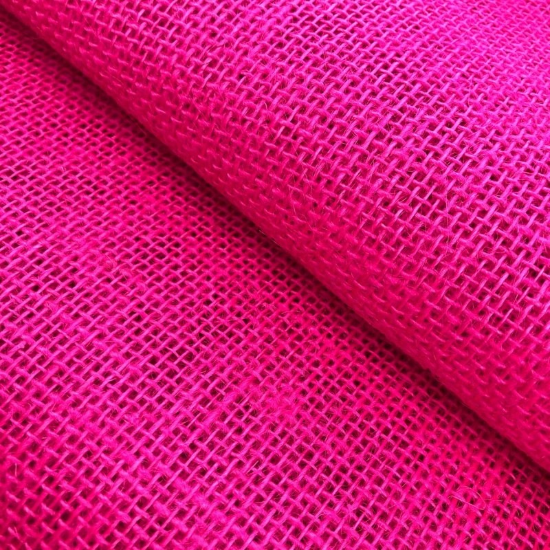 Juta Colorida Lisa - 1,00m largura - 100% Juta - Pink