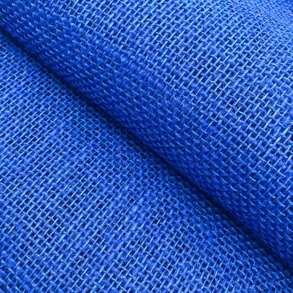 Juta Colorida Lisa - 1,00m largura - 100% Juta - Azul