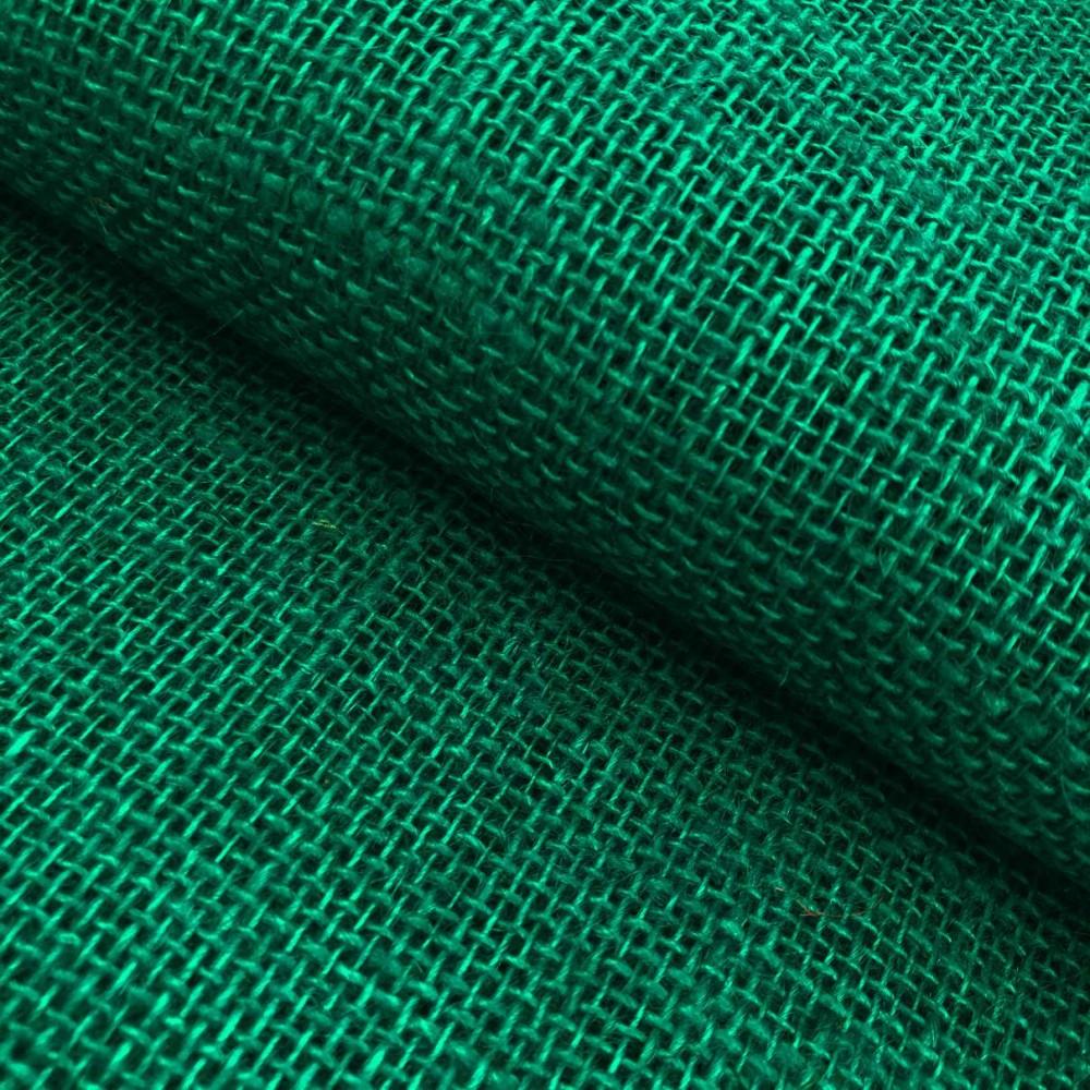 Juta Colorida Lisa - 1,00m largura - 100% Juta - Verde bandeira