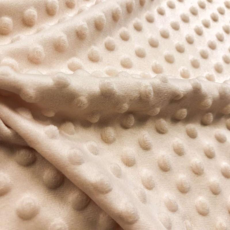 Manta Bubble Soft - 100% Poliéster - Bege