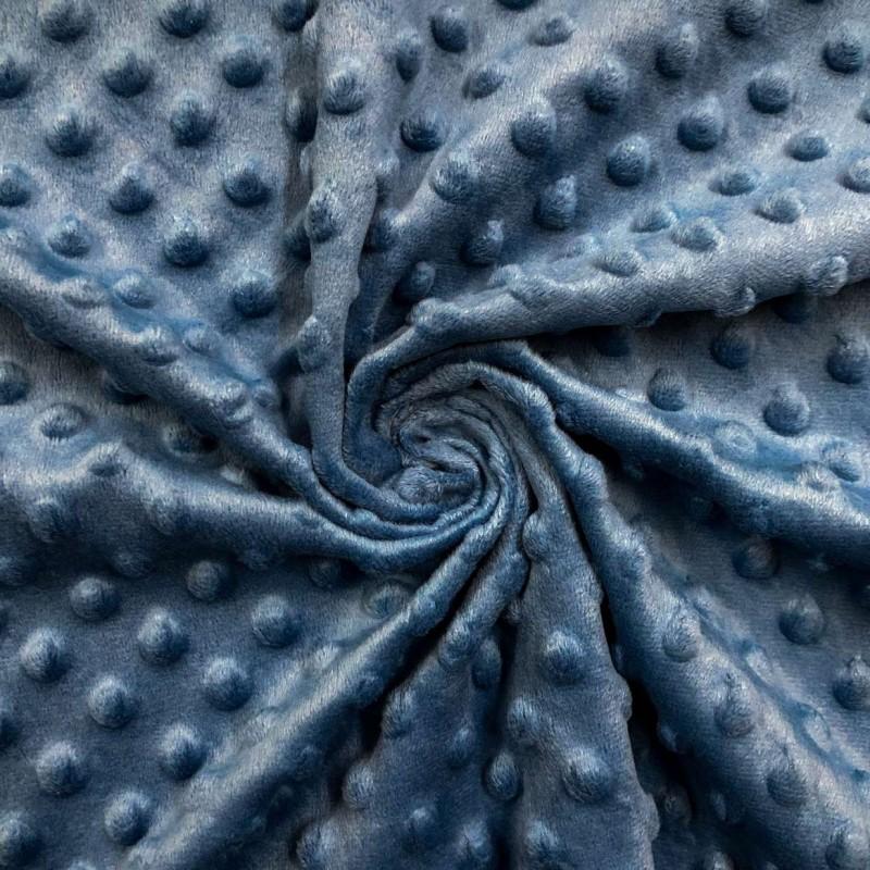 Manta Bubble Soft - 100% Poliéster - Azul royal