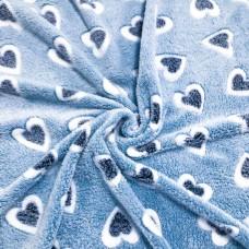 Manta Fleece - Coraçãozinho - 100% Poliéster - 1,60m de largura. - Cor 706