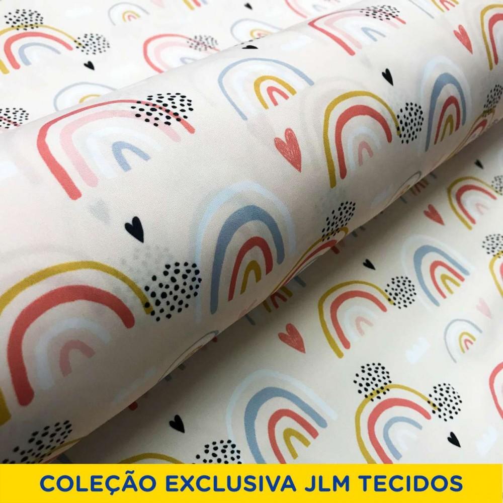 Microfibra Digital (Tactel) - Arco-Íris Aquarela - 100% Poliéster - Variante 1