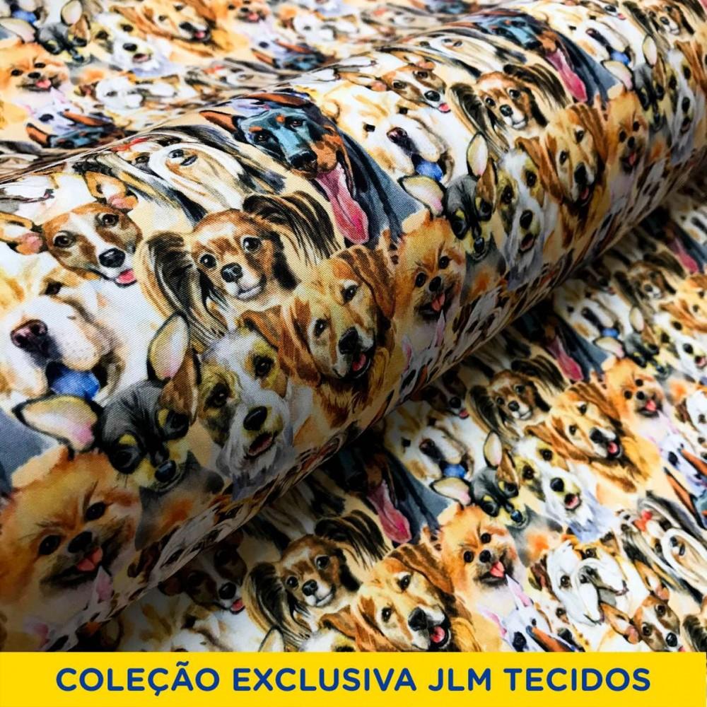Microfibra Digital (Tactel) - Cachorrinhos - 100% Poliéster - Variante 1