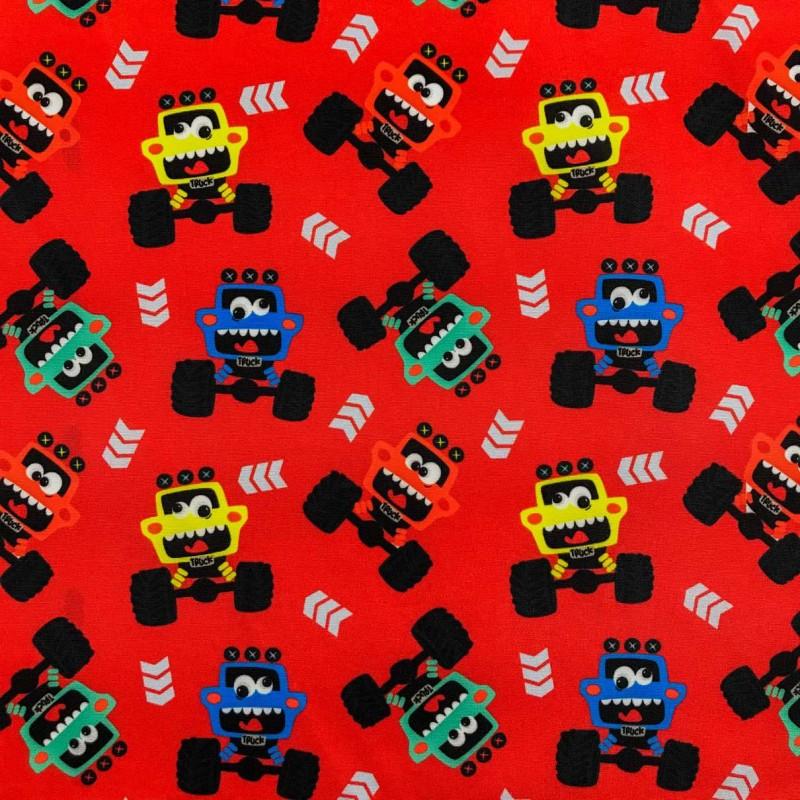 Microfibra Digital (Tactel) - Monster Truck - 100% Poliéster - Variante 1