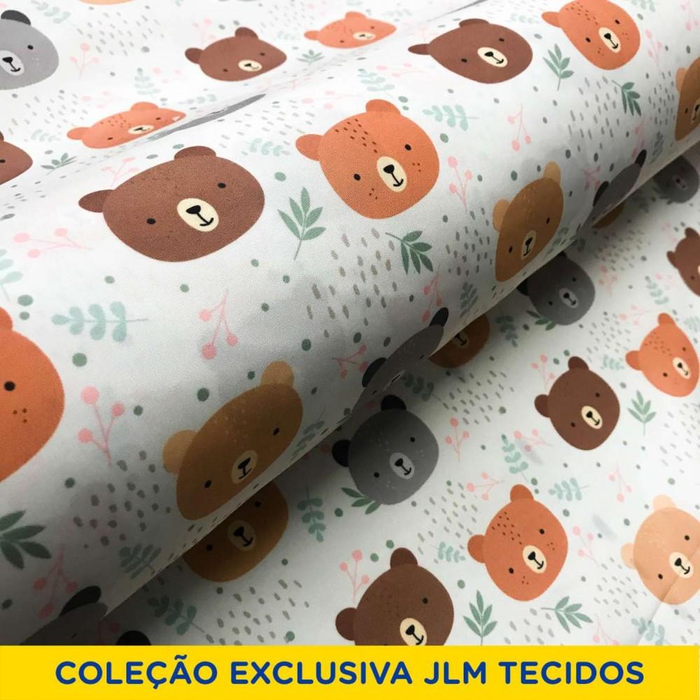 Microfibra Digital (Tactel) - Ursinho Teddy - 100% Poliéster - Variante 1
