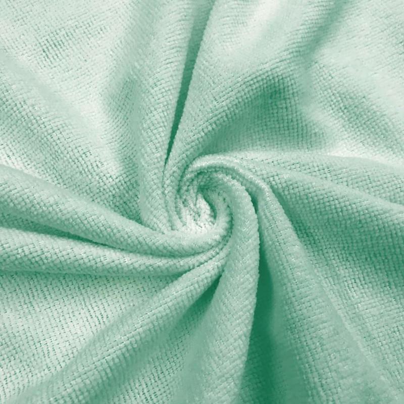 Microfibra Felpuda Lisa - 80% Poliéster 20% Poliamida - 1,45m Largura - Verde bebê