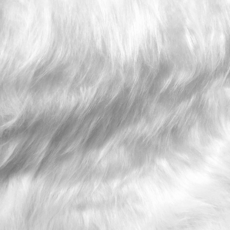 Pelúcia Prime - Pelo Alto - 100% Poliéster - Branco