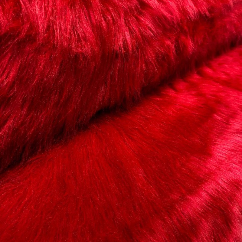 Pelúcia Prime - Pelo Alto - 100% Poliéster - Vermelho