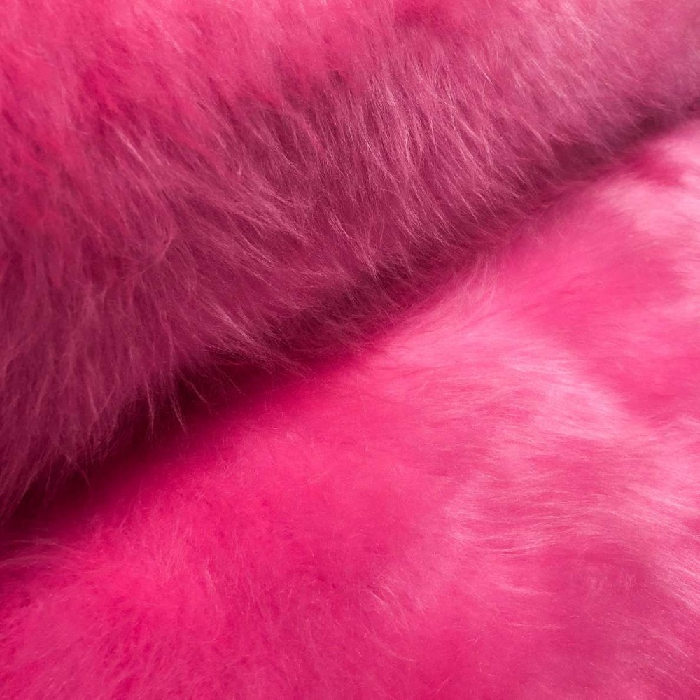 Pelúcia Prime - Pelo Alto - 100% Poliéster - Pink