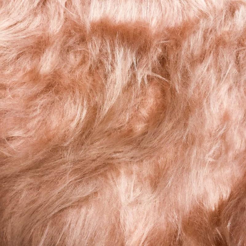 Pelúcia Prime - Pelo Alto - 100% Poliéster - Rosê