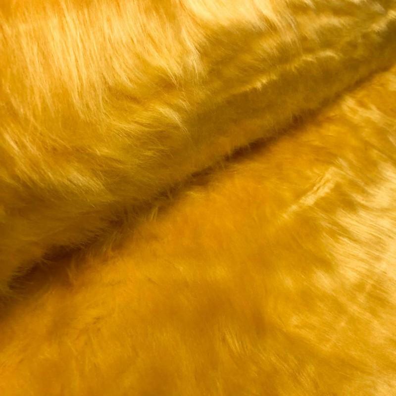 Pelúcia Prime - Pelo Alto - 100% Poliéster - Amarelo ouro