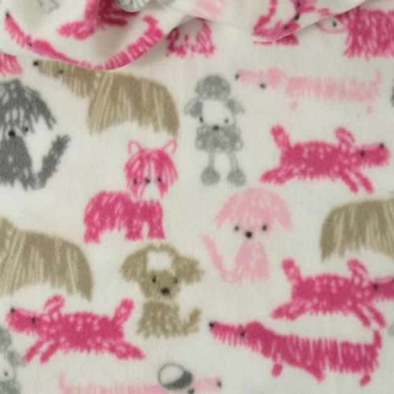 Pelúcia Soft Estampado - Dogs Rabiscos - 100% Poliéster - 1,60m Largura - Cor 349