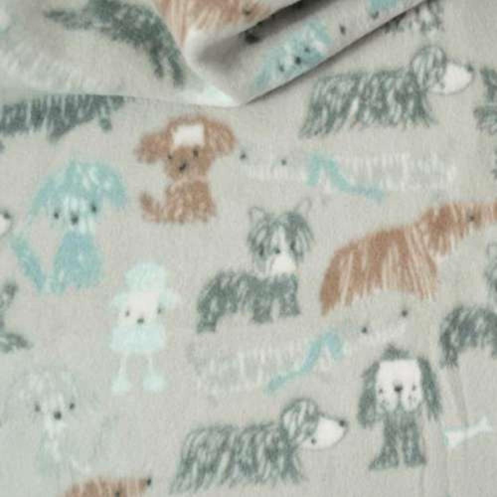Pelúcia Soft Estampado - Dogs Rabiscos - 100% Poliéster - 1,60m Largura - Cor 905