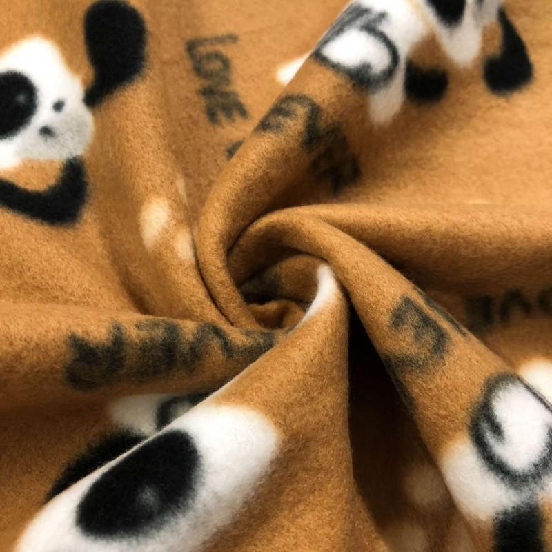 Pelúcia Soft Estampado - Dog Love You - 100% Poliéster - 1,60m Largura - Cor 829
