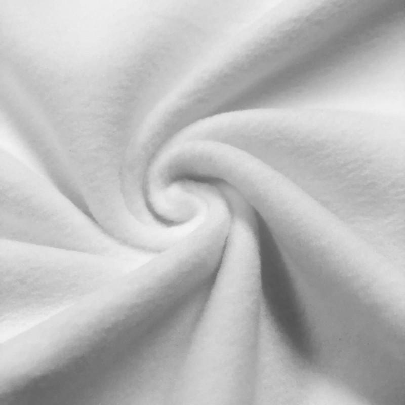 Pelúcia Soft Liso - 100% Poliéster - 1,50m Largura - Branco