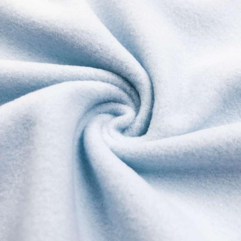 Pelúcia Soft Liso - 100% Poliéster - 1,50m Largura - Azul bebê