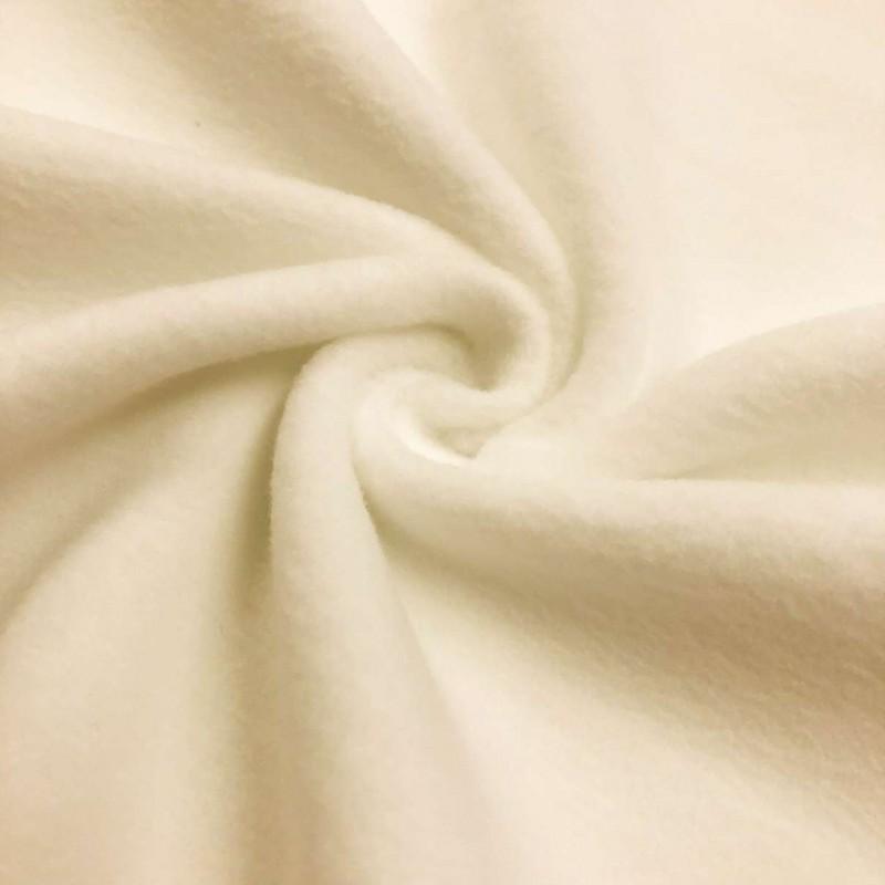 Pelúcia Soft Liso - 100% Poliéster - 1,50m Largura - Creme