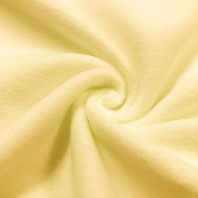 Pelúcia Soft Liso - 100% Poliéster - 1,50m Largura - Amarelo bebê
