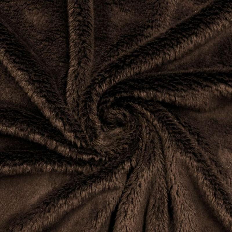 Pelúcia Ultrasoft - 100% Poliéster - Marrom chocolate