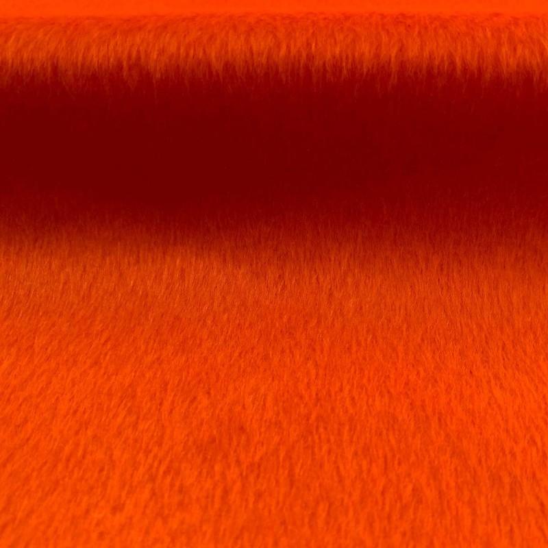 Pelúcia Velboa Lisa - 1,50m largura - Laranja cítrico