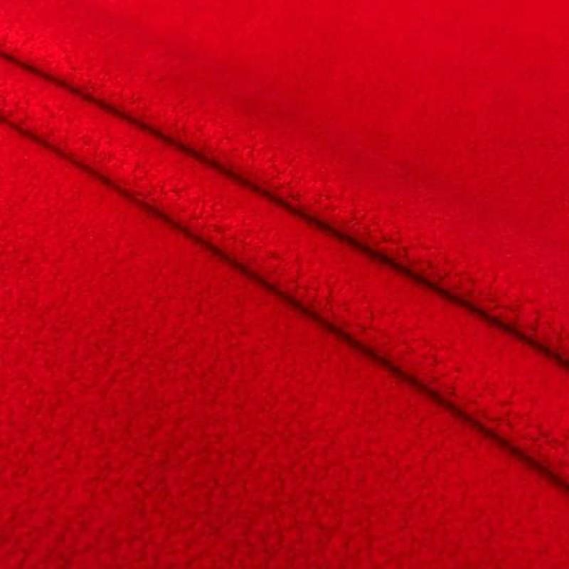 Pelúcia Melton Lisa - 80% Alg 20% Pol - 1,66m largura - Vermelho