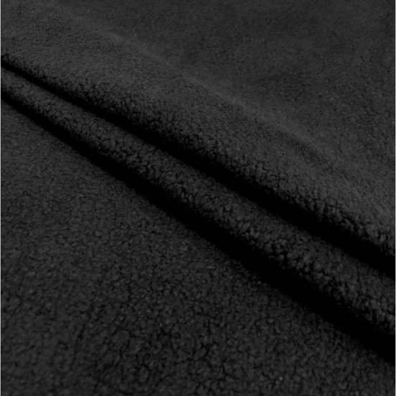 Pelúcia Melton Lisa - 80% Alg 20% Pol - 1,66m largura - Preto