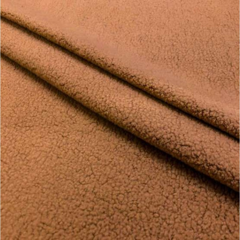 Pelúcia Melton Lisa - 80% Alg 20% Pol - 1,66m largura - Raposa (caramelo)