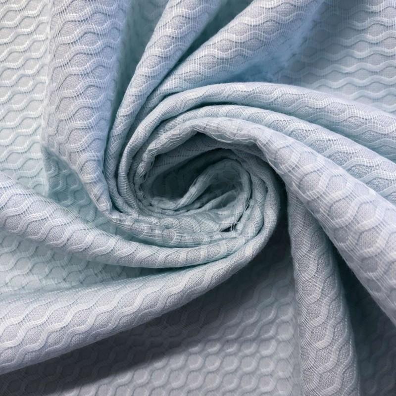 Piquet Colmeia (Grande) - 100% Algodão - 1,40m largura - Azul bebê