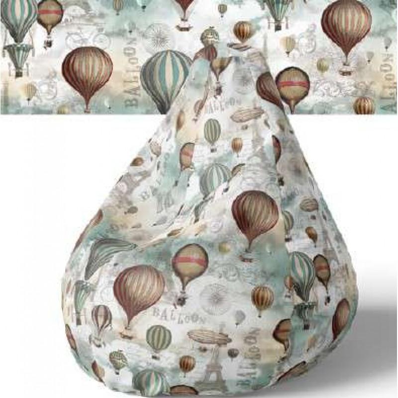 PVC Estampado - Balões - 100% Poliéster - 1,40m largura - Cor unica
