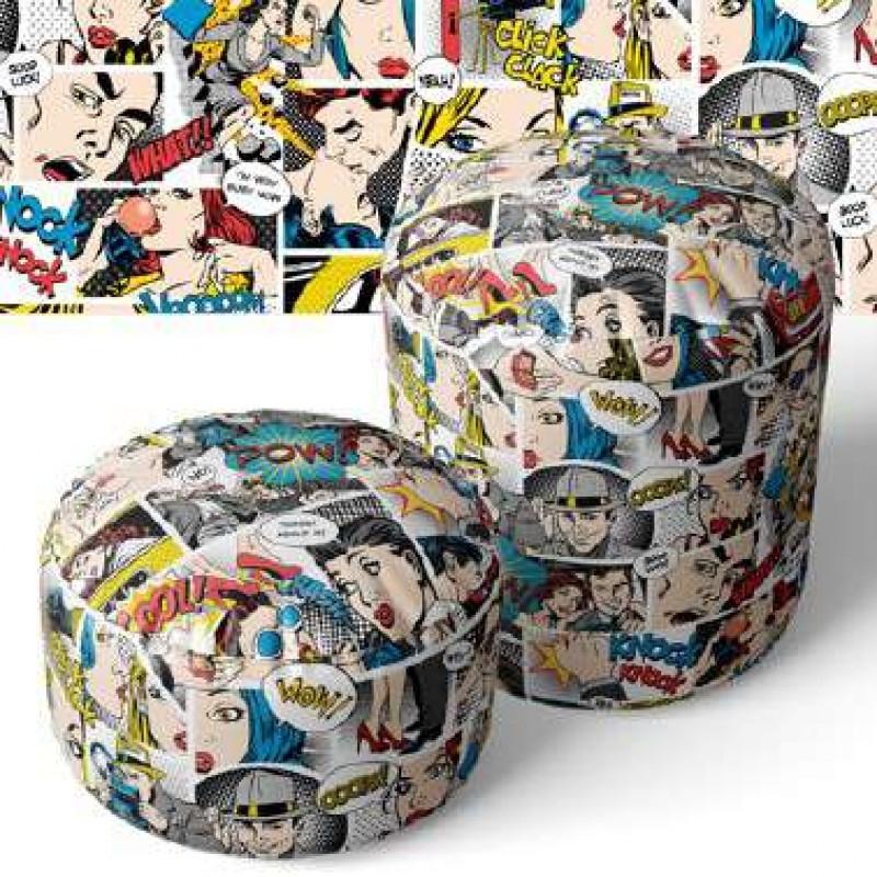 PVC Estampado - Comics - 100% Poliéster - 1,40m largura - Cor unica