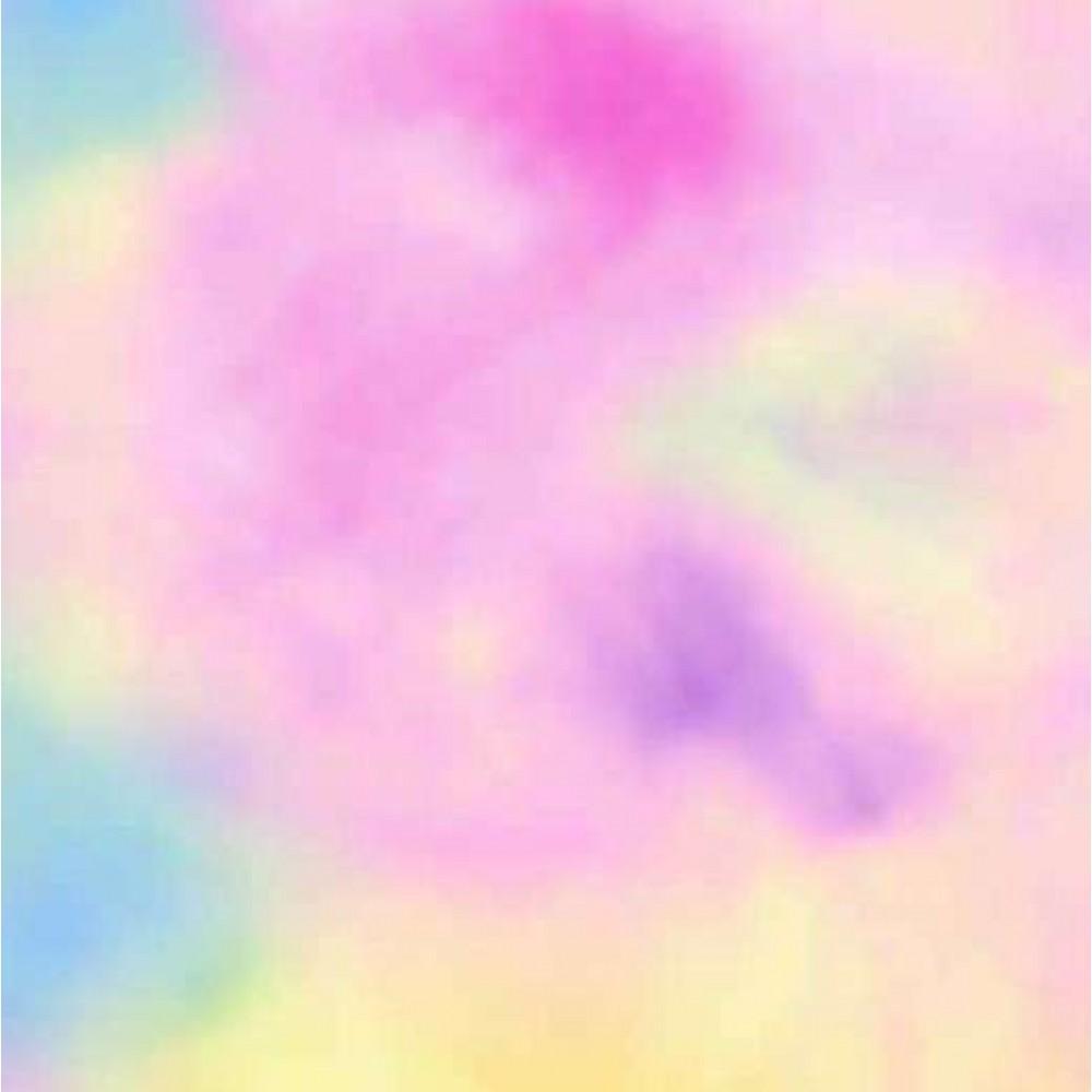 PVC Estampado - Tie Dye - 100% Poliéster - 1,40m Largura - Cor unica