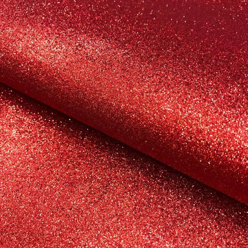 PVC Glitter - 1,40m largura - Vermelho