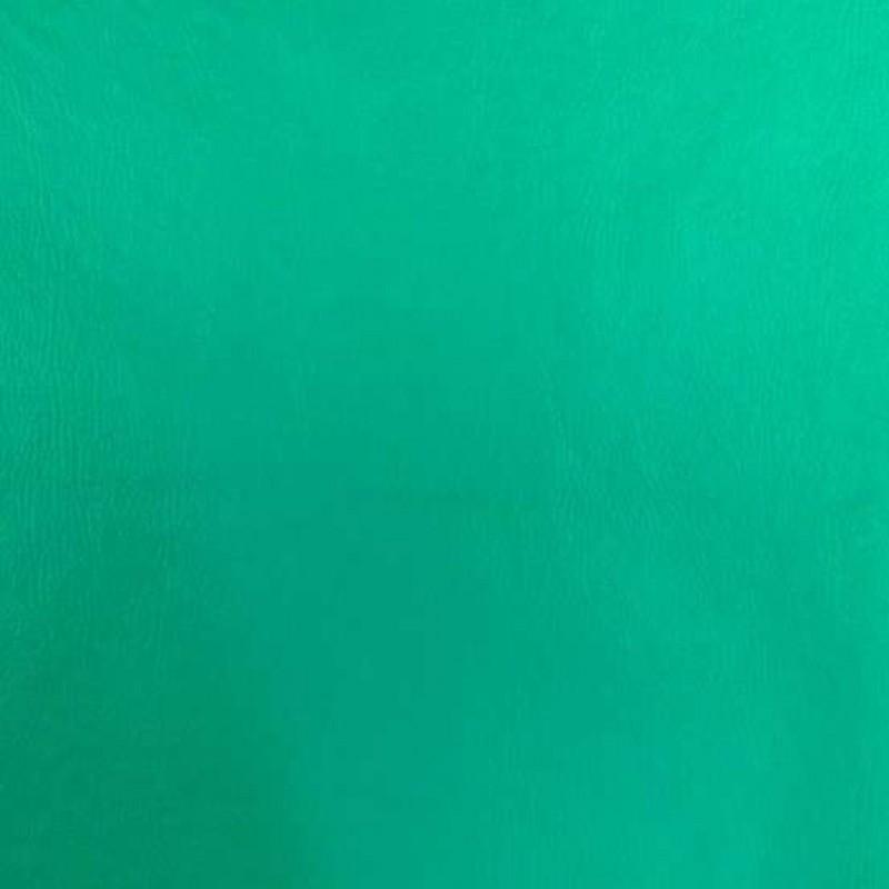 PVC Liso (Couro Fake) - 100% Poliéster - 1,40m Largura - Verde esmeralda