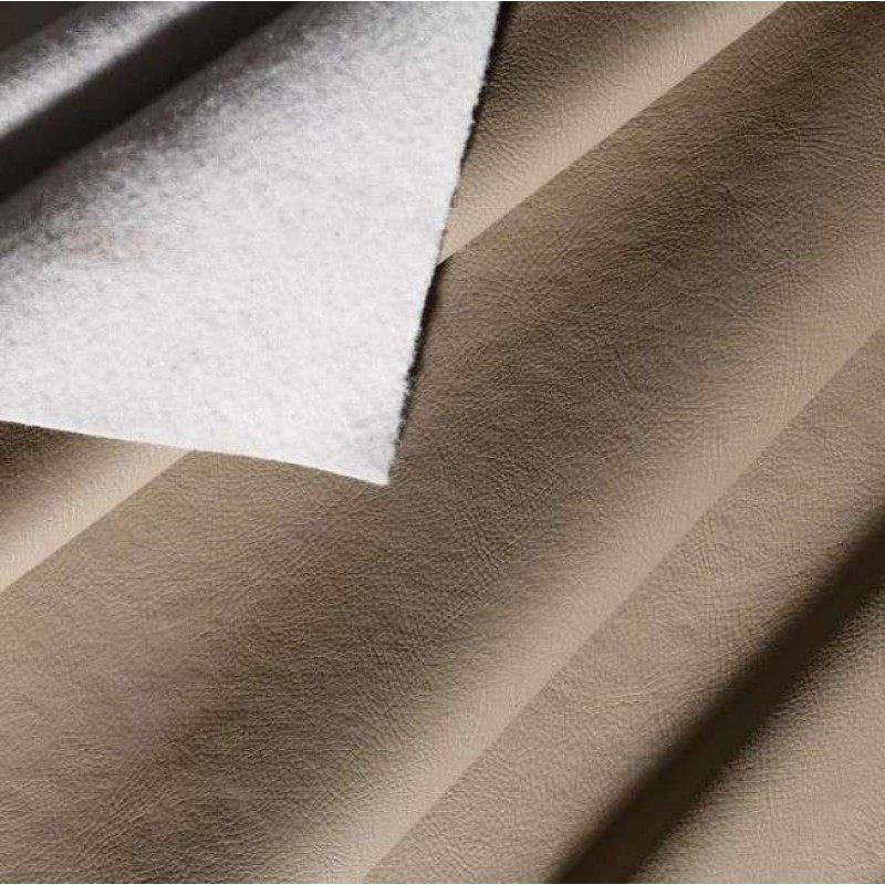 PVC Liso (Couro Fake) - 100% Poliéster - 1,40m Largura - Bege
