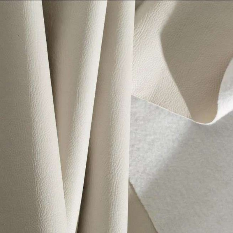 PVC Liso (Couro Fake) - 100% Poliéster - 1,40m Largura - Bege claro