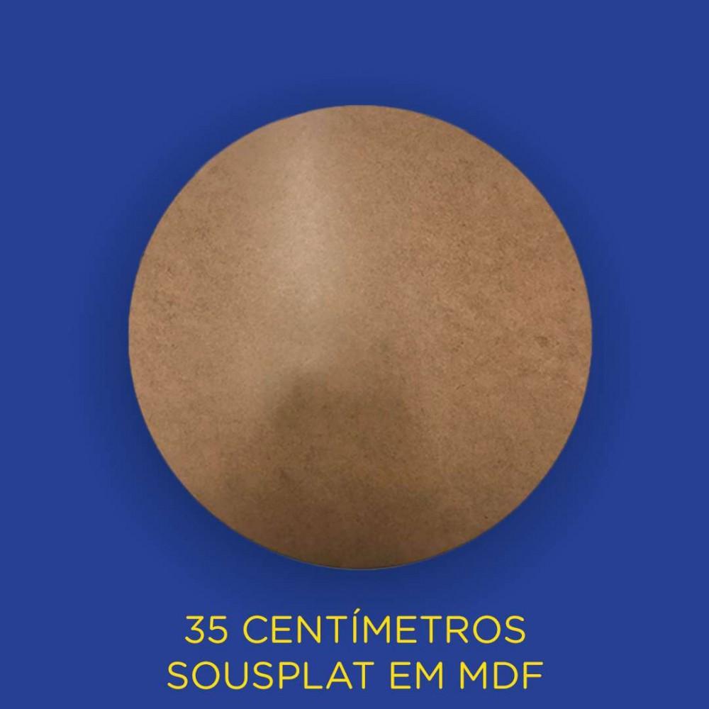 Sousplat MDF - Jantar - 35 centímetros - Natural