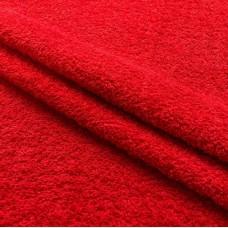 Tecido Felpa Atoalhado - 100% Algodão - 1,40m Largura - Vermelho