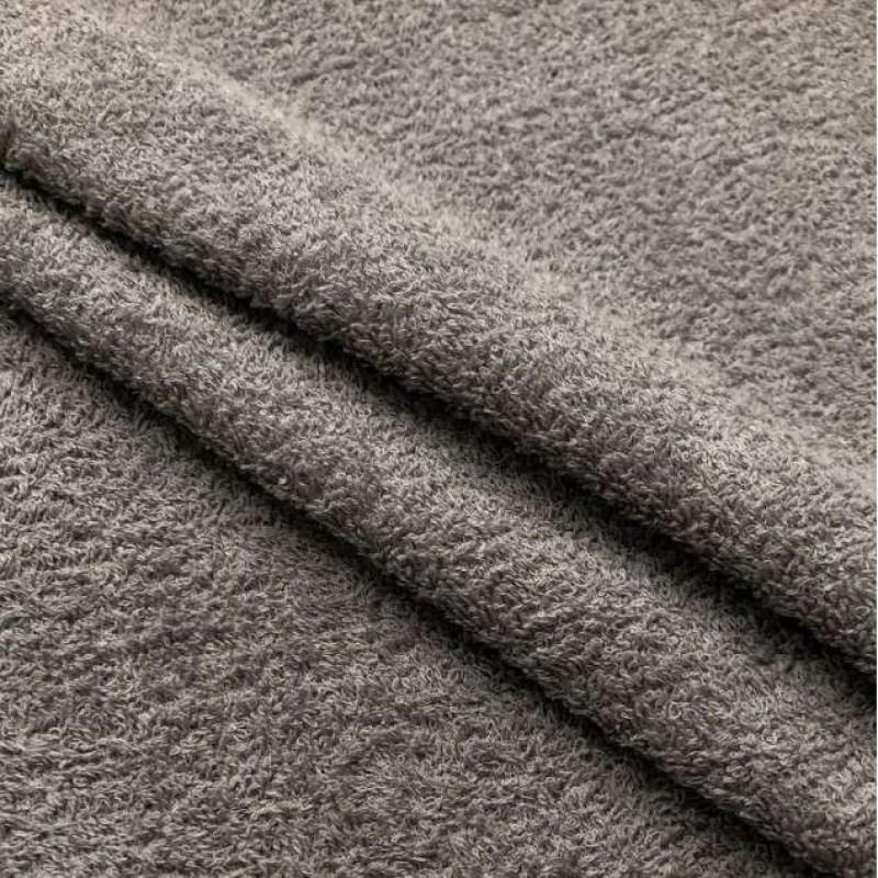 Tecido Felpa Atoalhado (Toalha) - 100% Algodão - 1,40m Largura - 0089 - cinza