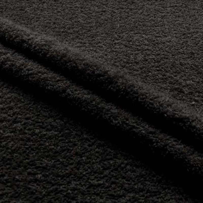 Tecido Felpa Atoalhado (Toalha) - 100% Algodão - 1,40m Largura - Preto