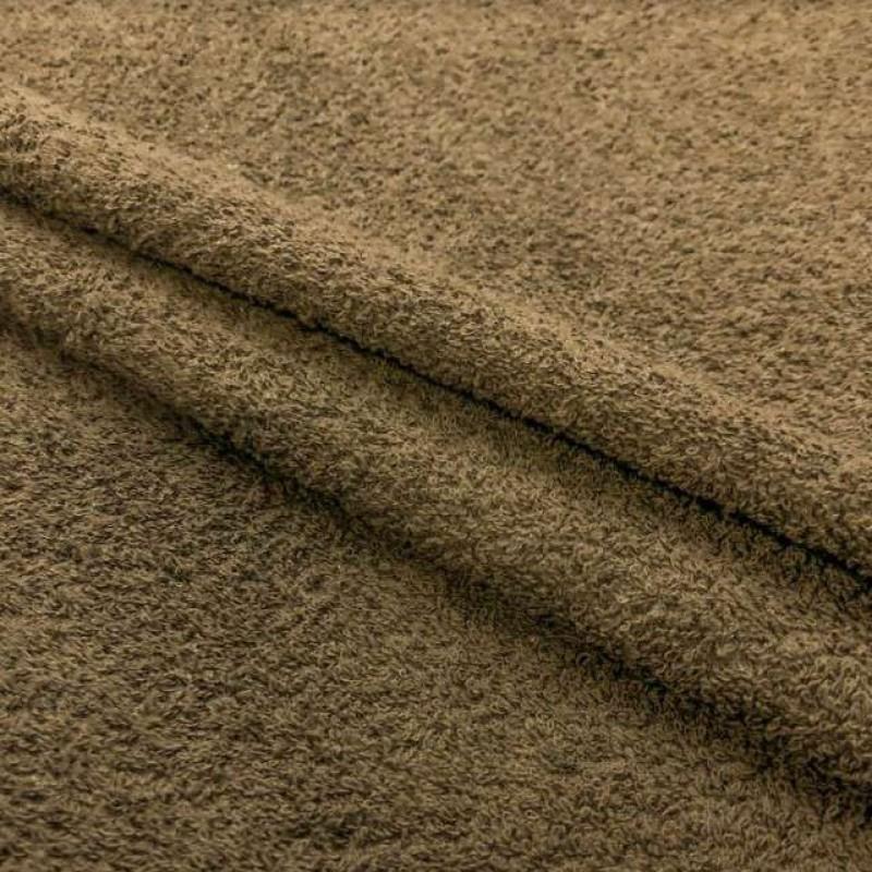 Tecido Felpa Atoalhado (Toalha) - 100% Algodão - 1,40m Largura - Fendi (caqui)