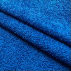 Tecido Felpa Atoalhado - 100% Algodão - 1,40m Largura - Azul cobalto