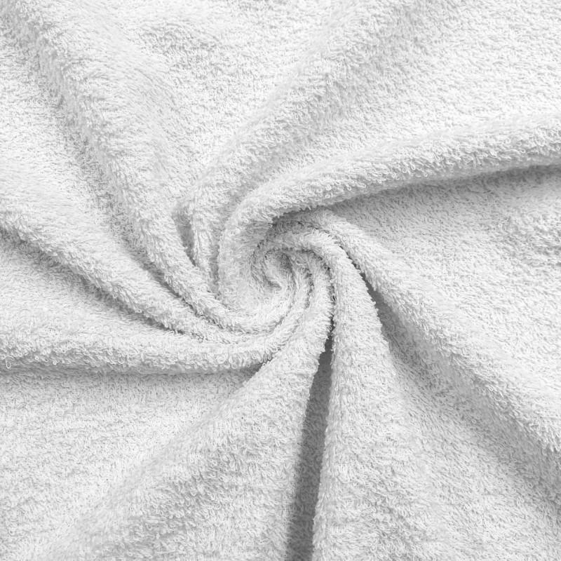 Tecido Felpa Atoalhado (Toalha) - 100% Algodão - 1,40m Largura - Branco