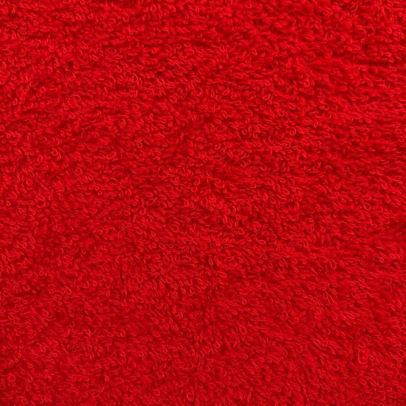 Tecido Felpa Atoalhado (Toalha) - 100% Algodão - 1,40m Largura - Vermelho