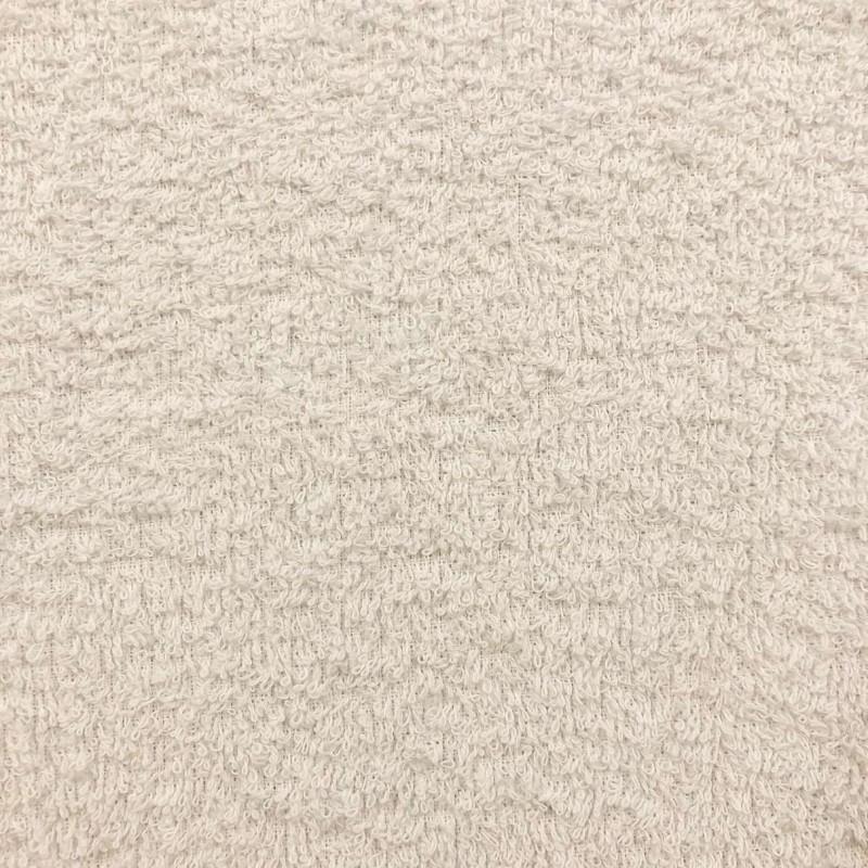 Tecido Felpa Atoalhado (Toalha) - 100% Algodão - 1,40m Largura - Pérola