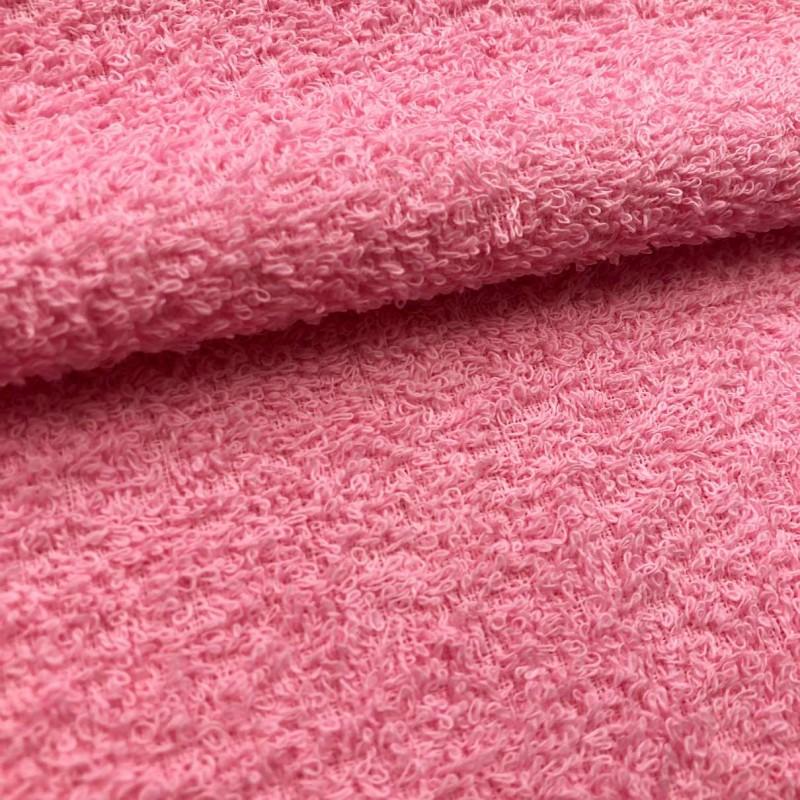 Tecido Felpa Atoalhado (Toalha) - 100% Algodão - 1,40m Largura - Rosa bebê