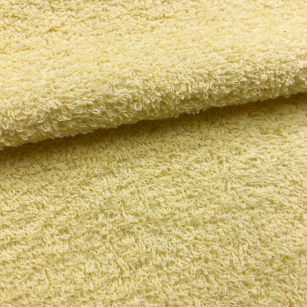 Tecido Felpa Atoalhado (Toalha) - 100% Algodão - 1,40m Largura - Ananás/amarelo bebê