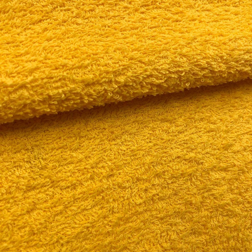 Tecido Felpa Atoalhado (Toalha) - 100% Algodão - 1,40m Largura - Amarelo ouro