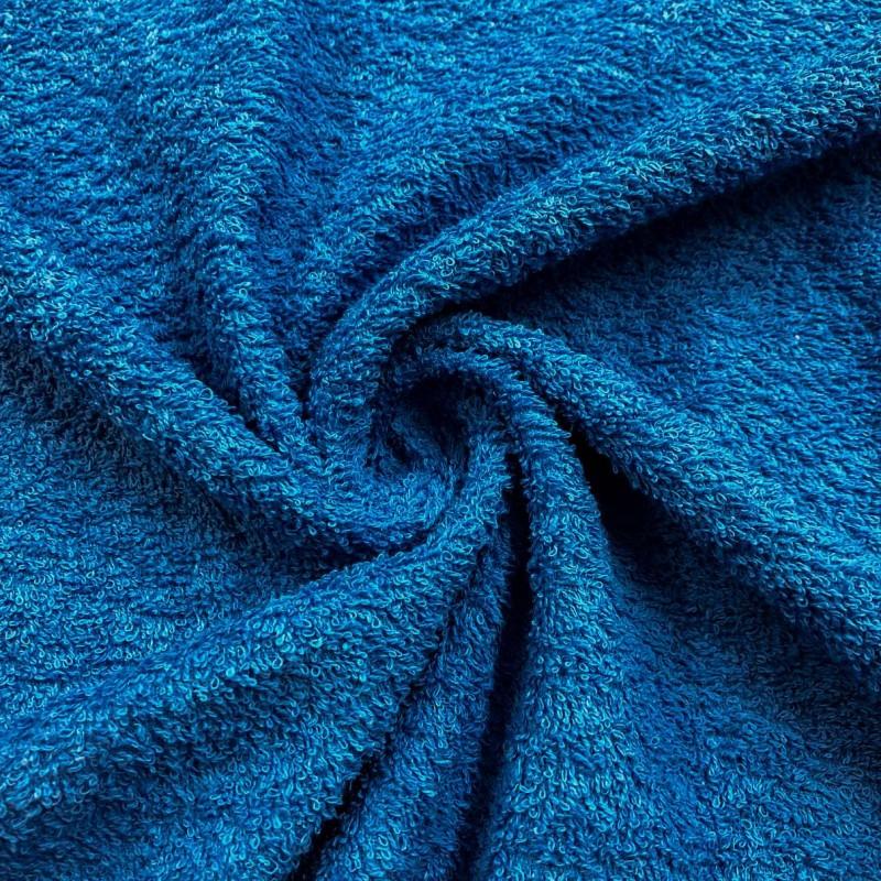 Tecido Felpa Atoalhado (Toalha) - 100% Algodão - 1,40m Largura - Azul cobalto